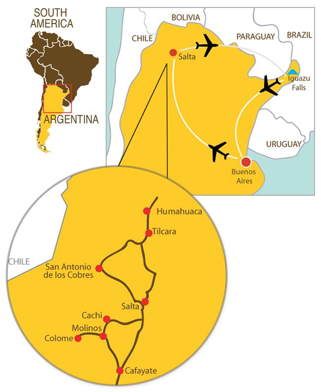 Map Of Northern Argentina Culture Xplorers - Argentina map small