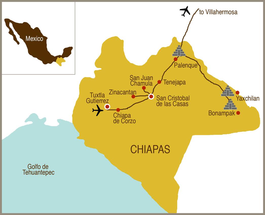 culturexplorers map chiapas small culture xplorers