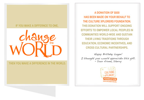 Mail For Wedding Gift Contribution : Change The World: If you make a difference to one, then you make a ...