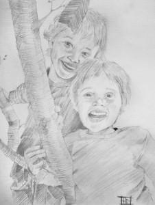 "Lugo's portrait ""Harrison & Daniel"""