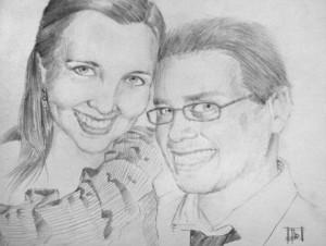"Lugo's portrait ""Mike & Dana"""