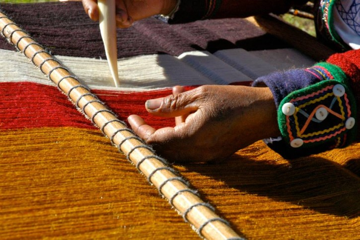 Peru CTTC Weavers Hands & Loom Detail