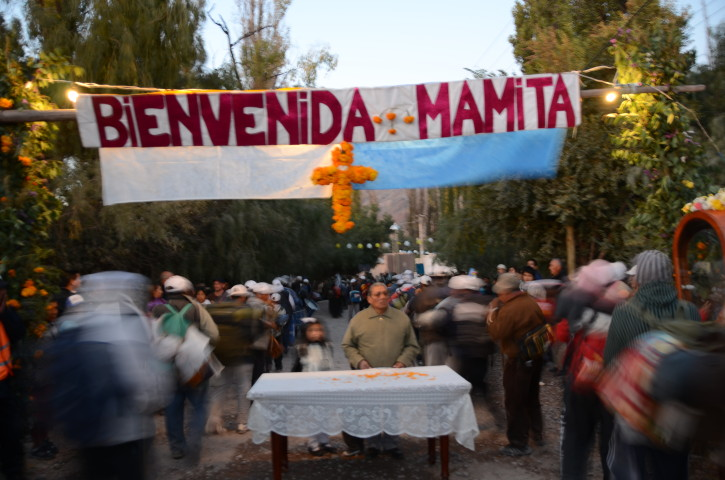 Tilcara - arriving pilgrims